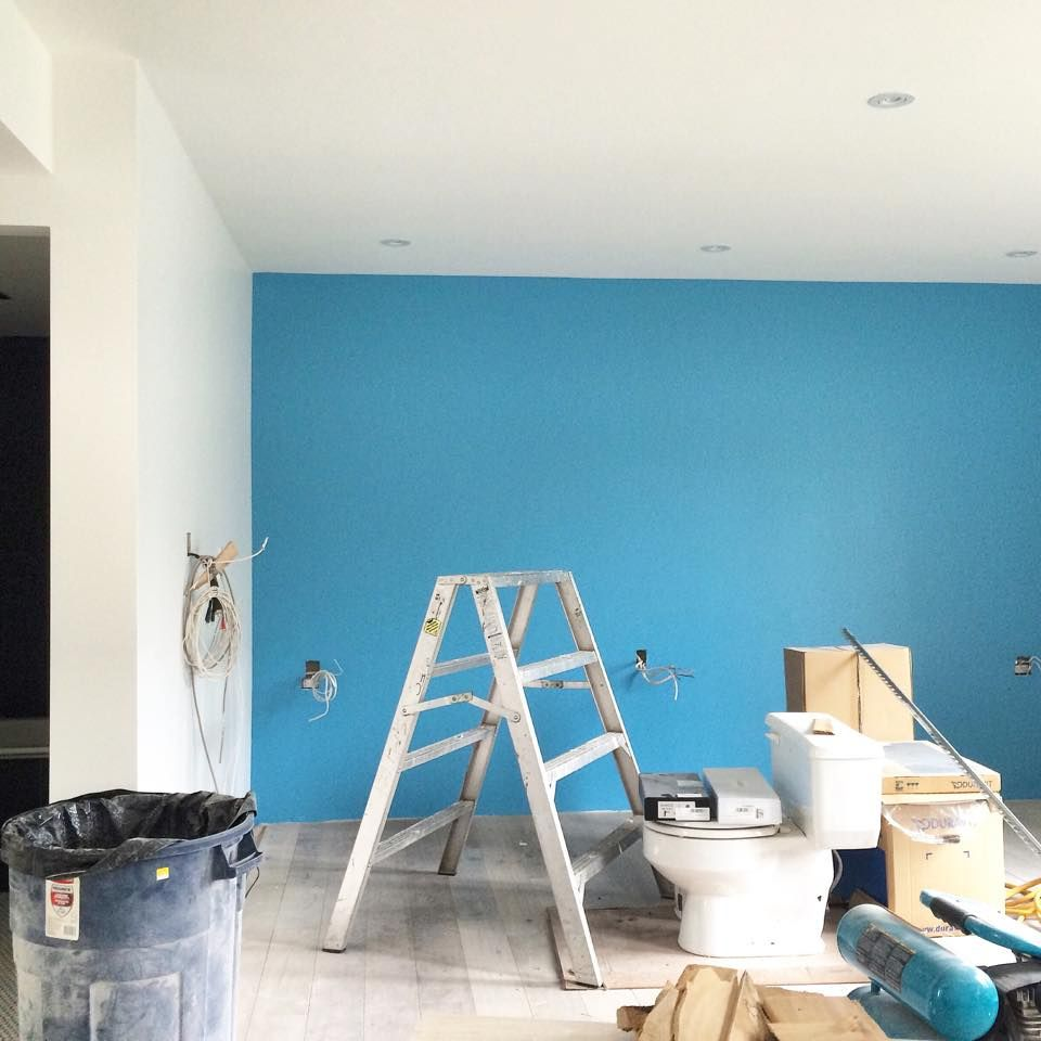 St. Giles blue feature wall for our second full scale residential ...