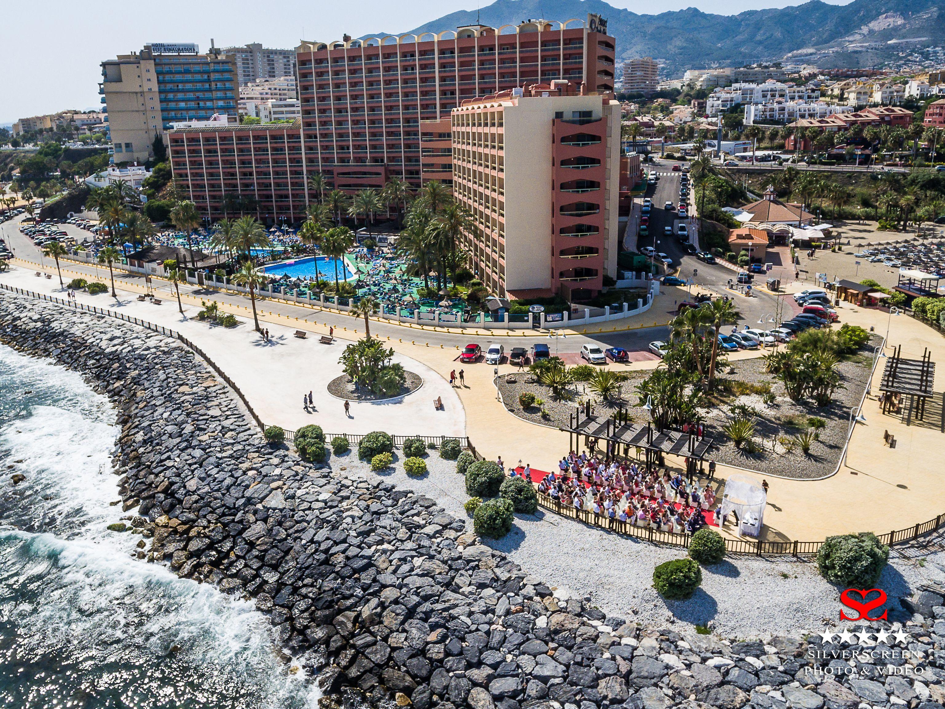Aerial View Of Sunset Beach Club Hotel In Benalmadena Costa Malaga Spain