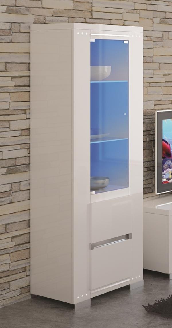 Elegance Diamond White High Gloss Display Unit With Swarovski Crystal Detail