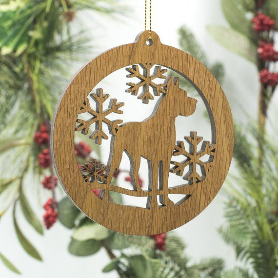 Great Dane Christmas Ornament Great Dane Dog Silhouette Wooden
