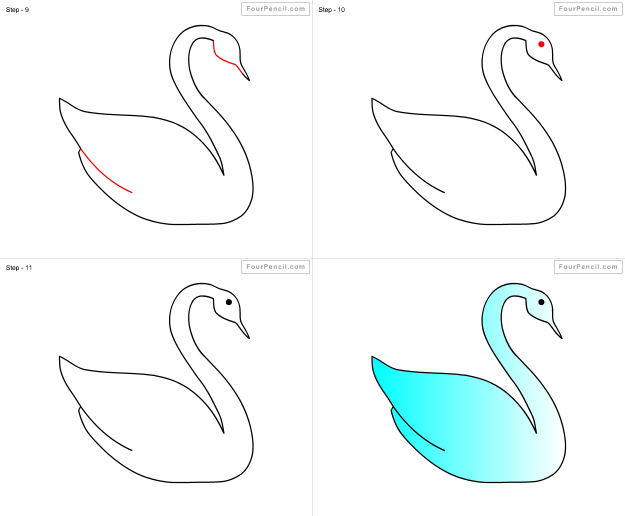 How to Draw a Swan. Instructions