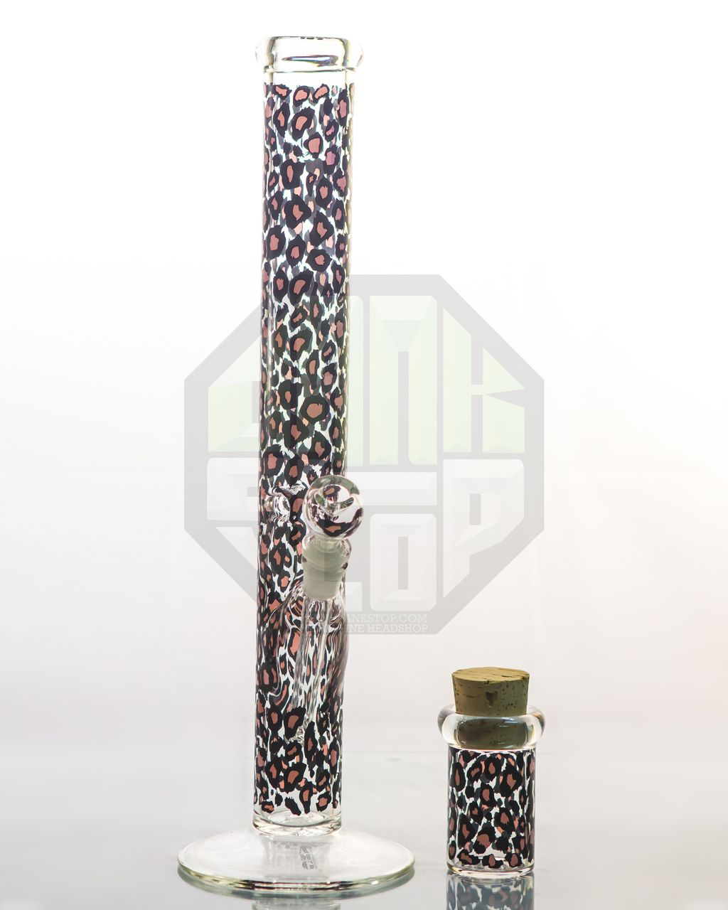 "AMG Glass - 18"" Black Leopard Pattern Water Pipe ..."