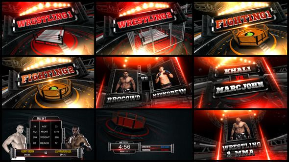 wrestling mma fighting sports envato videohive aftereffects