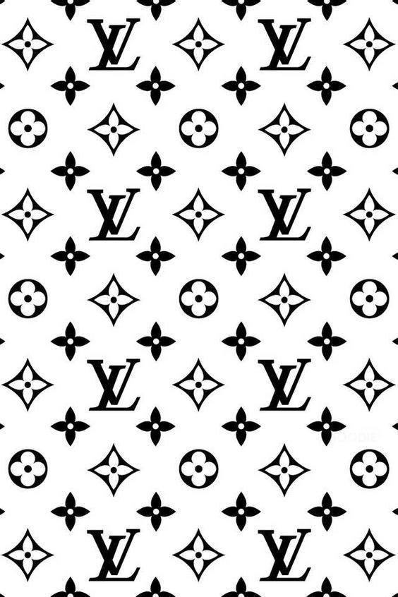 Black White Louis Vuitton black white prints black