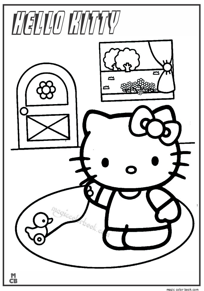 Pin by Magic Color Book on Hello Kitty Coloring pages free online ...