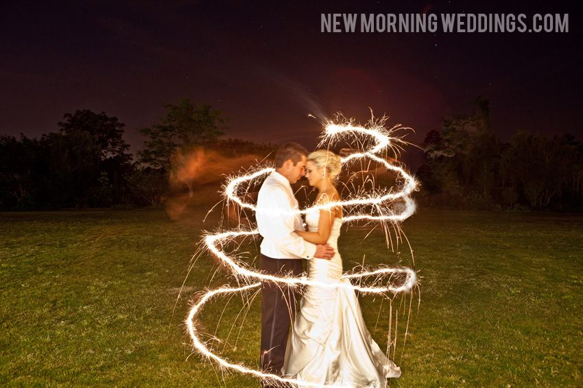 Wedding Sparklers I Took This Low Light Photo At Night