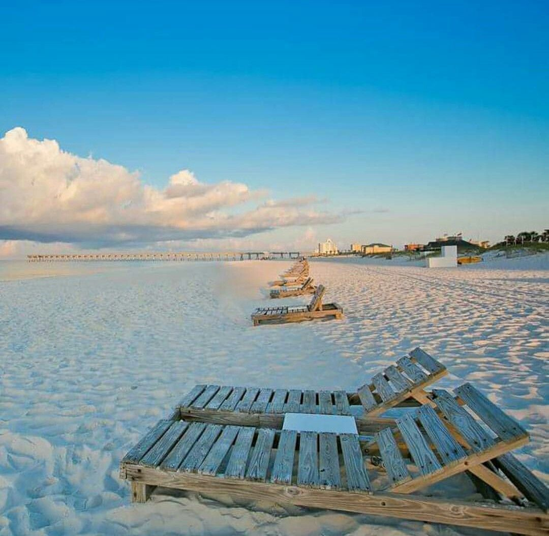 Destin, FL, White Sand, Beach, Ocean, Beach Chair