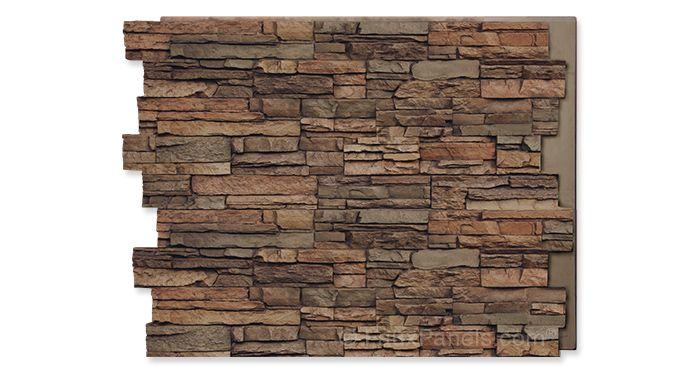 norwich colorado stacked stone tall panel  faux stone