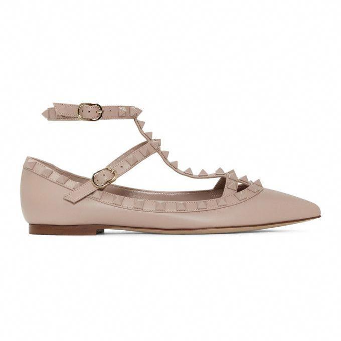 fed33268b69d VALENTINO VALENTINO PINK VALENTINO GARAVANI ROCKSTUD BALLERINA FLATS.   valentino  shoes