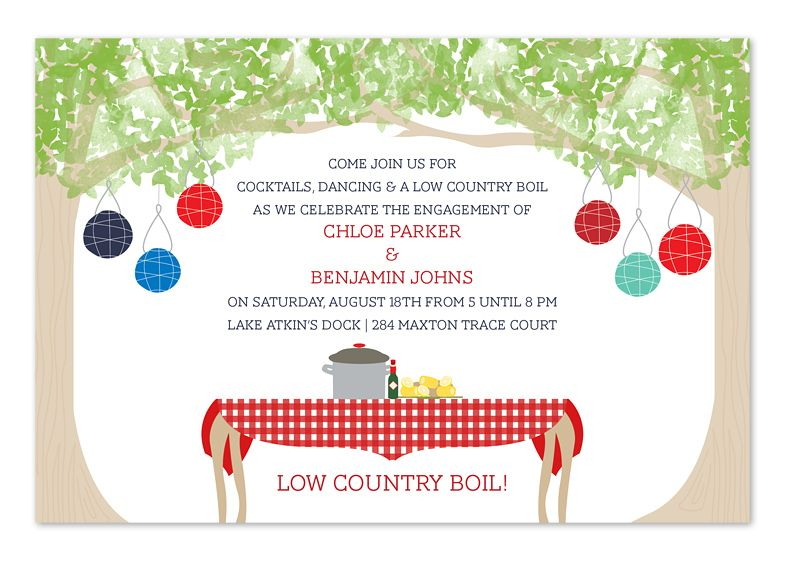 Bountiful Backyard Party Invitations by Invitation Consultants