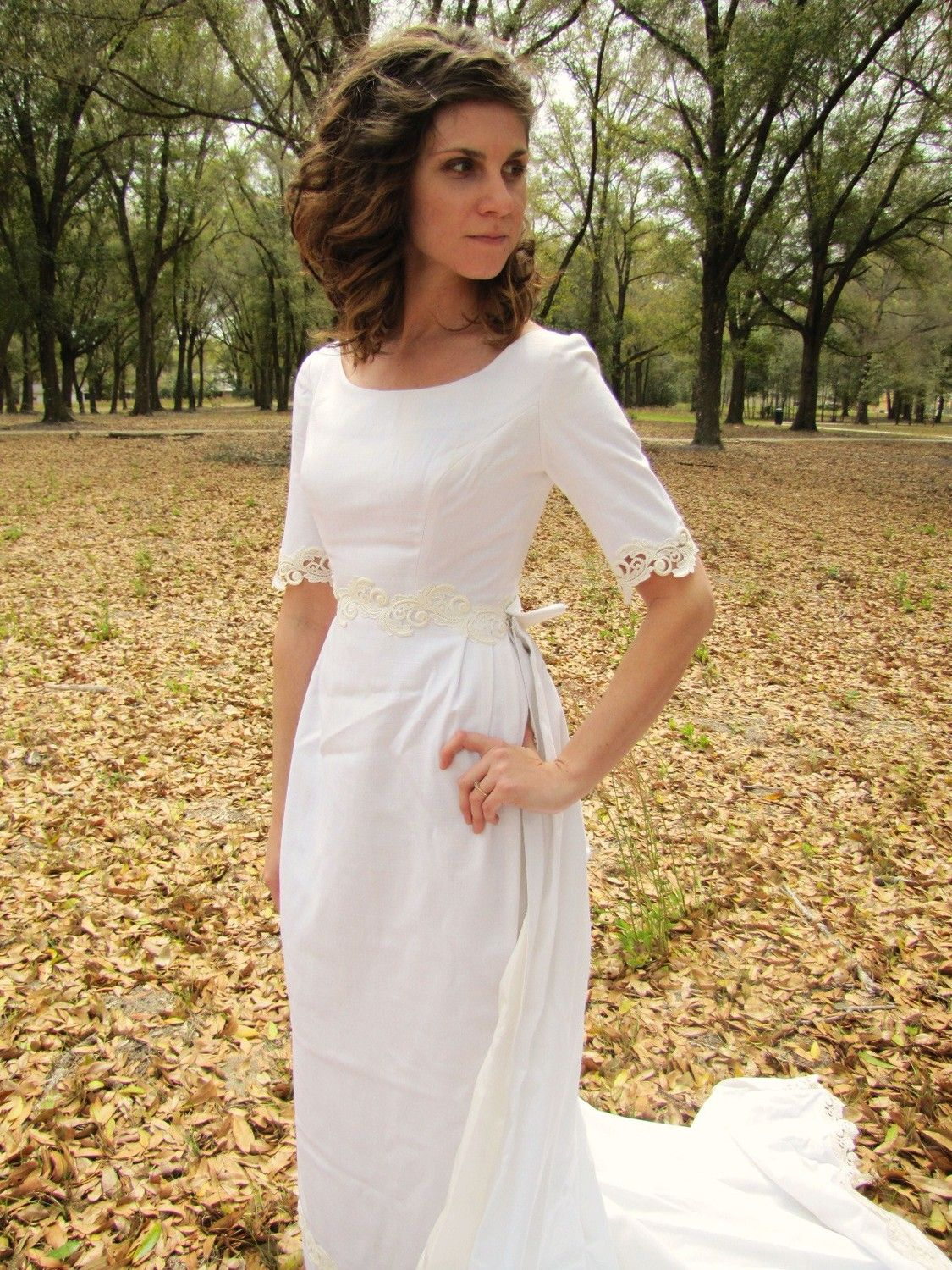 Your Place To Buy And Sell All Things Handmade Linen Wedding Dress Lace Dress With Sleeves White Linen Wedding Dress
