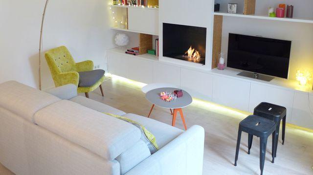 Aménagement salon design avec cuisine ouverte - Côté Maison Salon