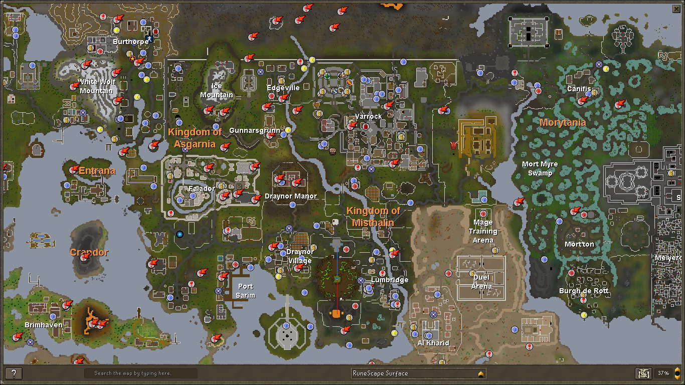 runescape map - Google Search | Old school runescape, Water ...