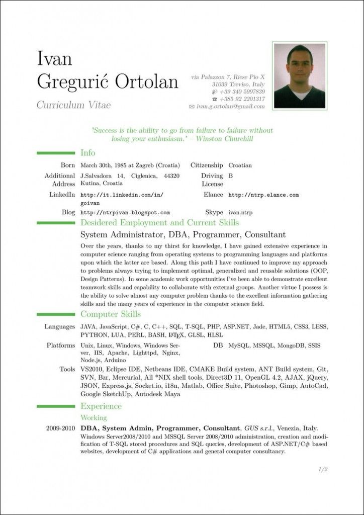 Templates For Curriculum Vitae Cv Template To Write A Resume  Resume  Pinterest  Cv Template