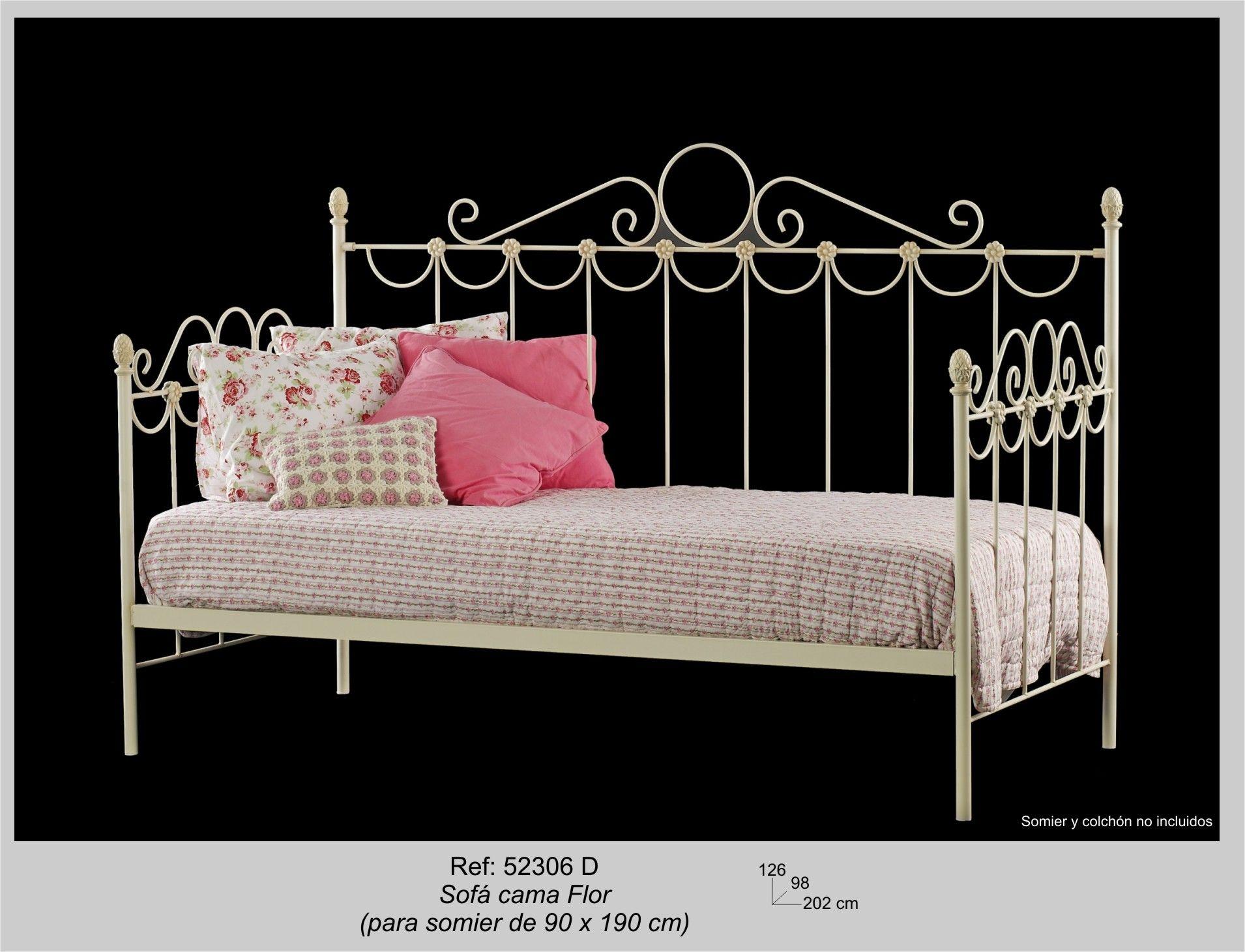 Sofa cama Flor, sin Colchón y Somier - Su estilo en forja ...