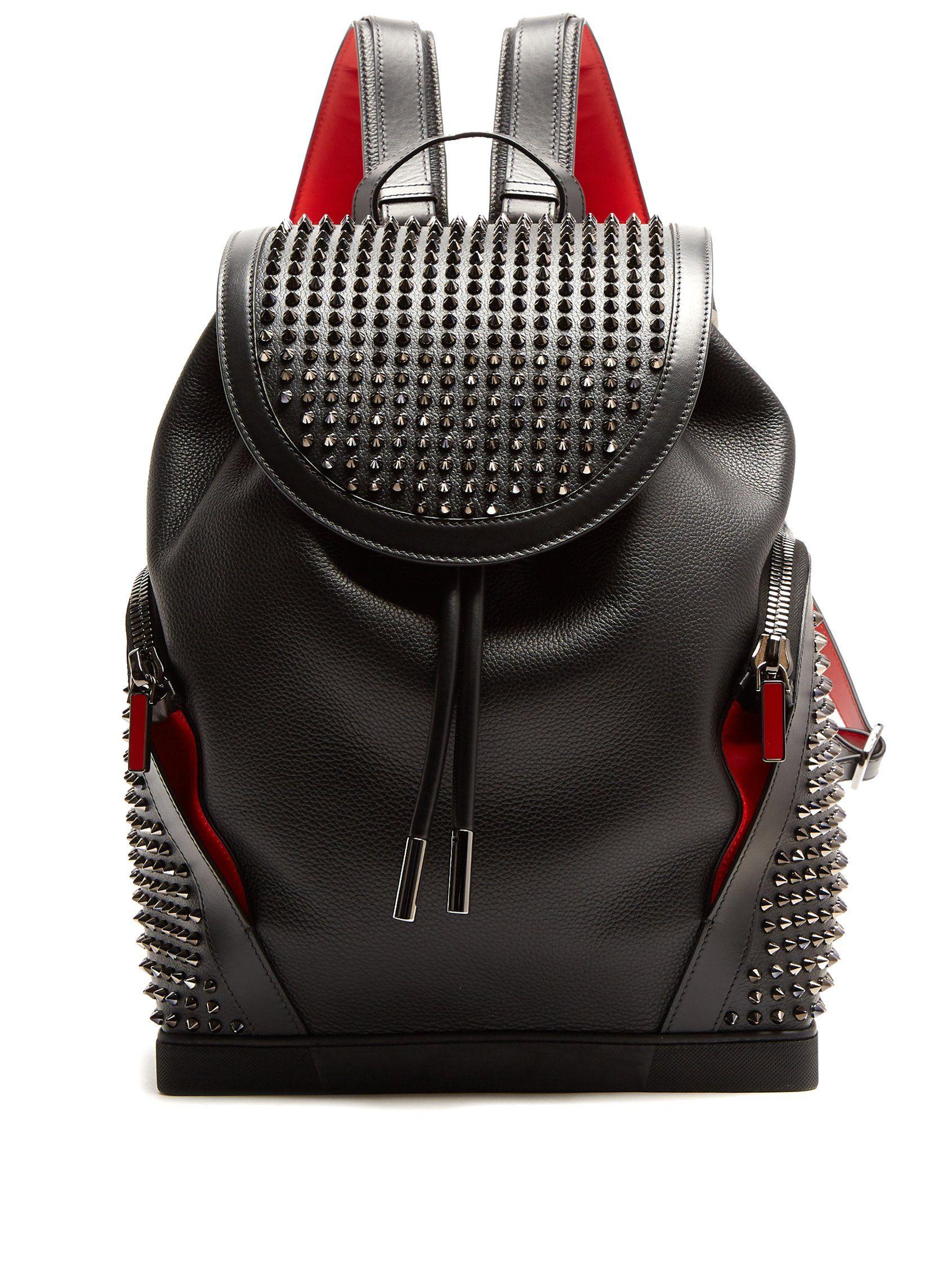 e77f1facfd311 Christian Louboutin Explorafunk spike-embellished backpack Canvas Backpacks