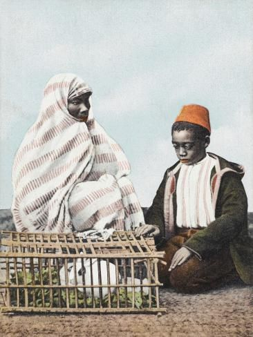 size: 24x18in Photographic Print: Rabbit Seller - Constantinople Poster : Entertainment