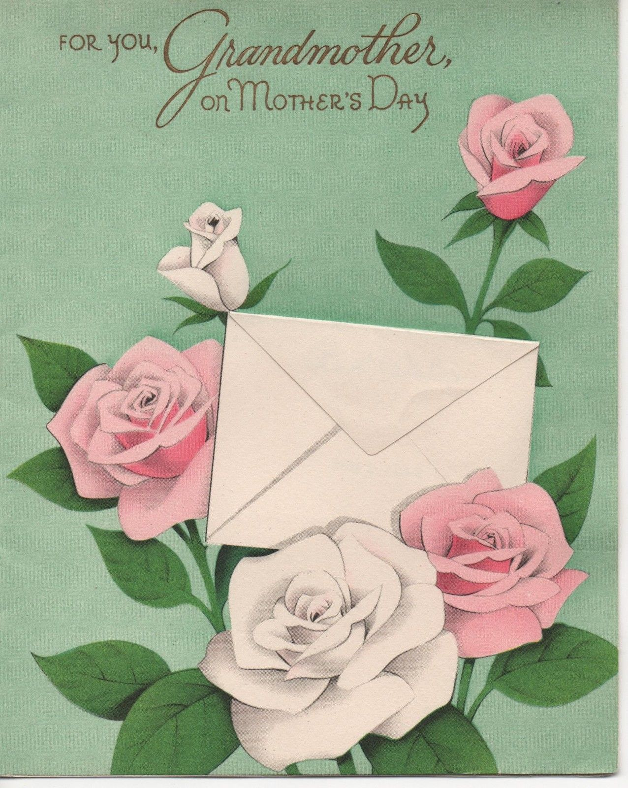 This Is A Charming Vintage Mothers Day Greeting Card From 1954