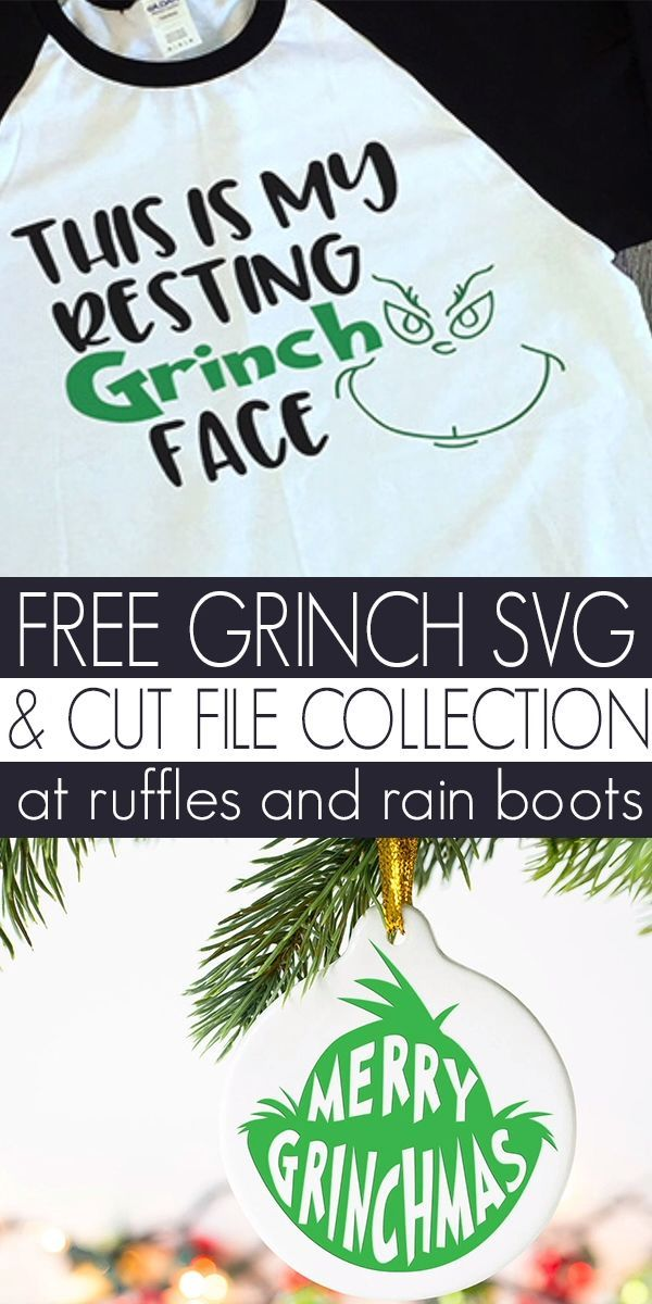 Free Grinch SVGs - Resting Grinch Face and So Many