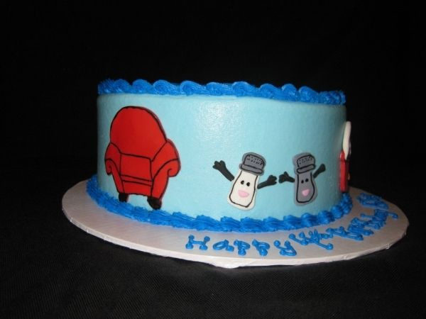 Astounding Blues Clues Birthday Cake And On Top The House With Mail Box And Funny Birthday Cards Online Alyptdamsfinfo