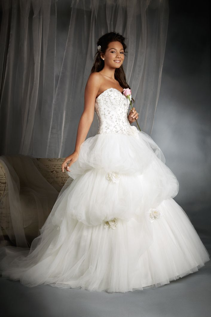 Belle Inspired Wedding Gown - 2015 Disney\'s Fairy Tale Weddings by ...