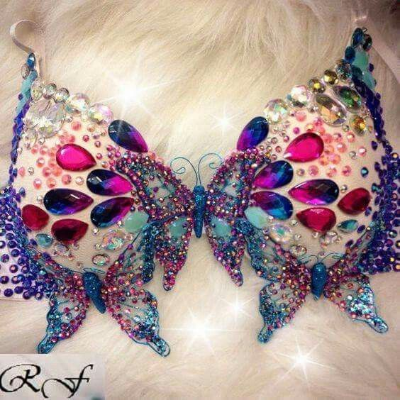 Butterfly gem bra