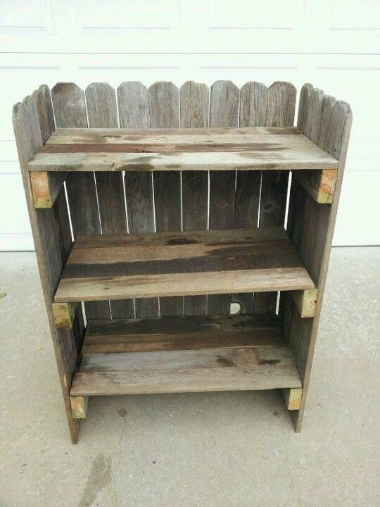 Bookcase Made From Our Old Fence My Idea Husbands Building Skills