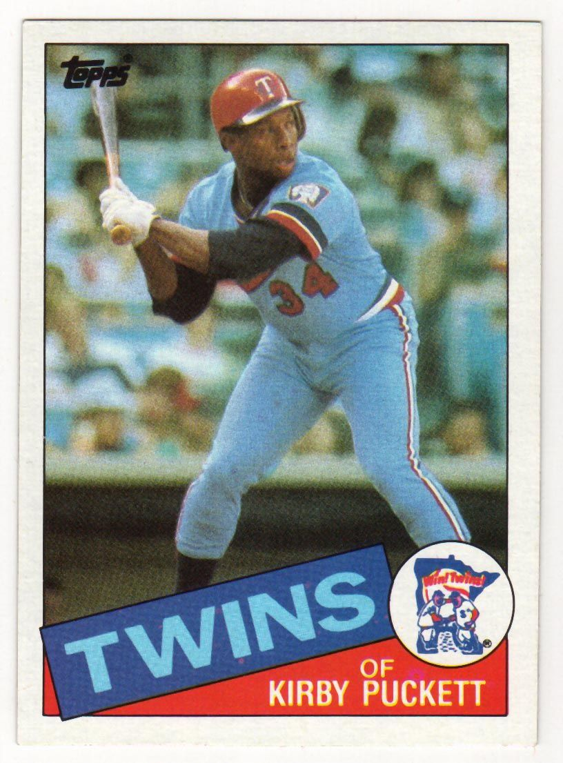 1985 kirby puckett rookie card baseball cards for sale