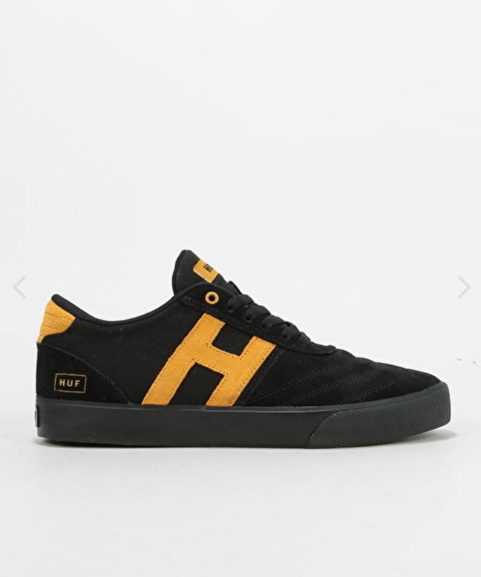 867b69cc952e FOR SALE  Huf Galaxy Skate Shoes - Black Features  Low Top Silhouette  Perforated