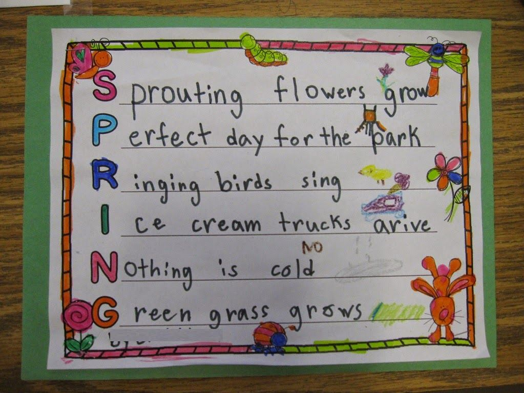 Grab this FREE spring acrostic poem template for your kids! Great ...