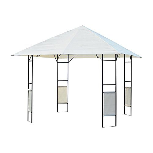 Outsunny Modern Outdoor Canopy Cover Gazebo 10Feet x 10Feet Cream * Check out this great product. | Plant Support Structures | Pinterest | Canopy cover and ...  sc 1 st  Pinterest & Outsunny Modern Outdoor Canopy Cover Gazebo 10Feet x 10Feet Cream ...