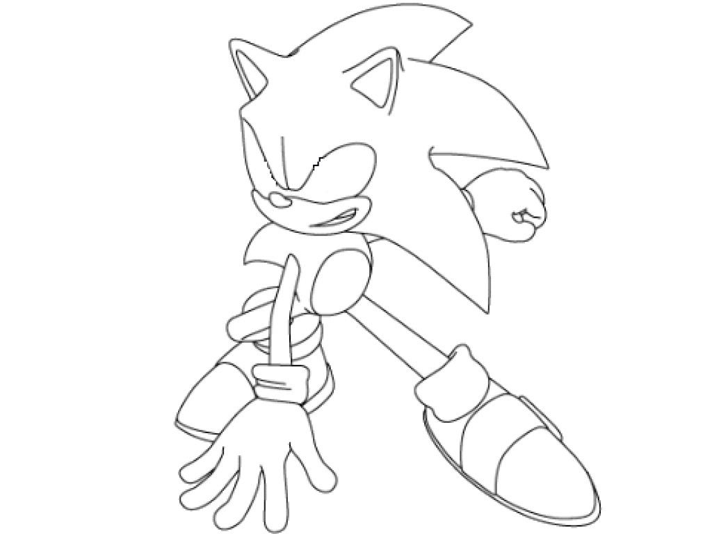 super sonic coloring pages # 6