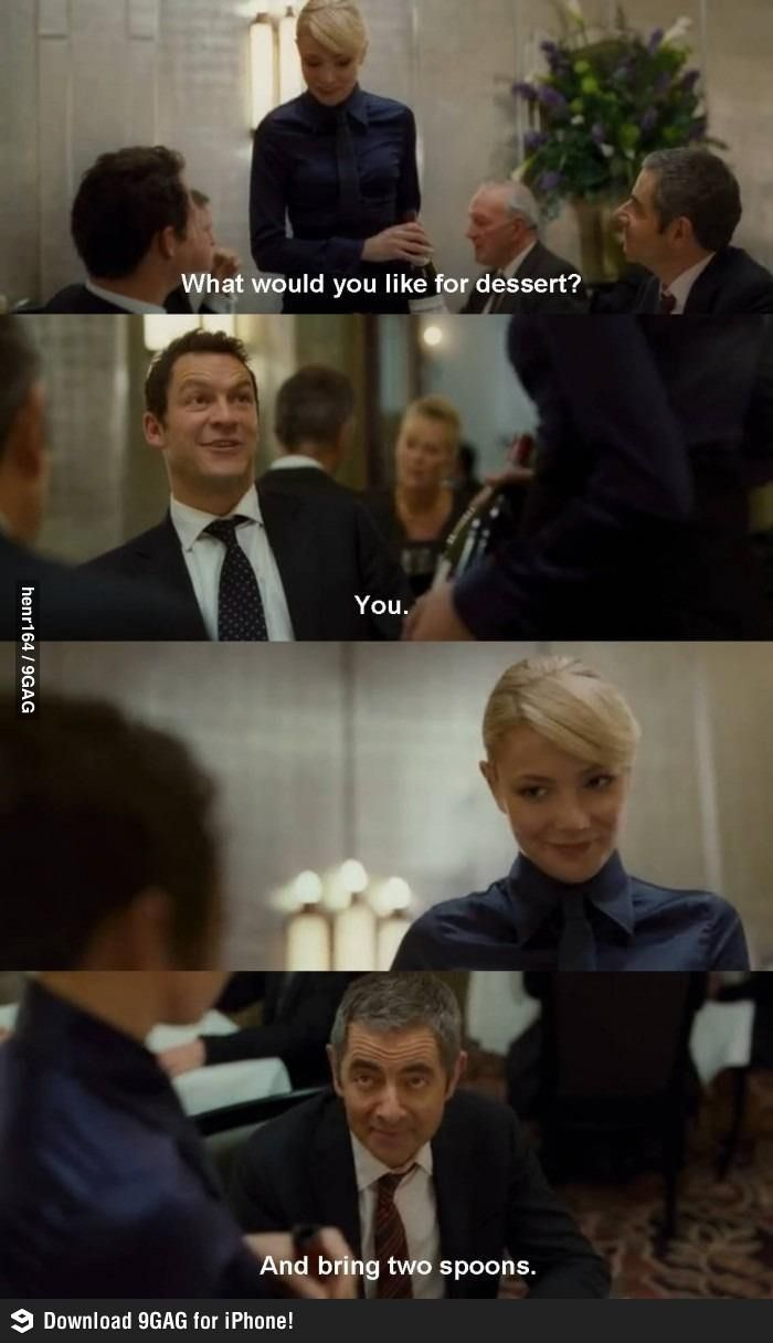 What Would You Like For Dessert Johnny English Best Funny Pictures Funny Pictures