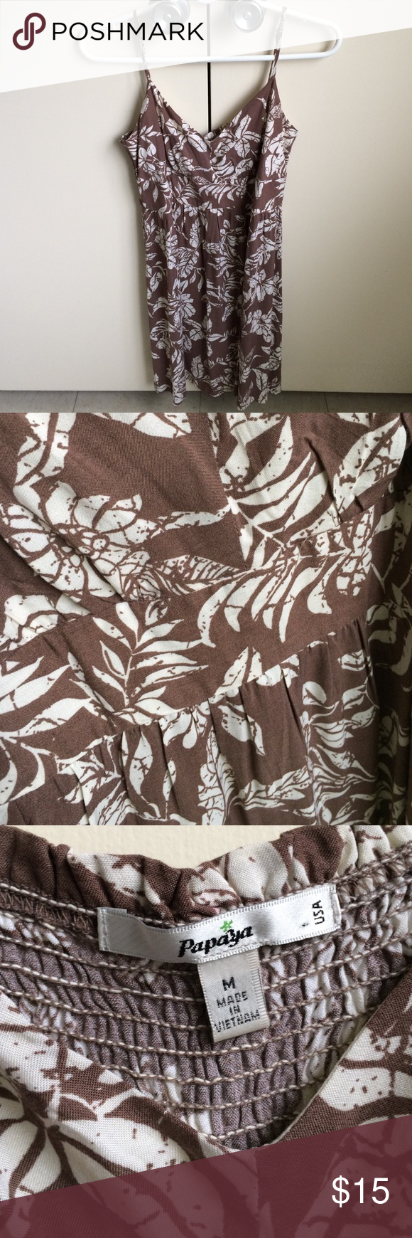 Papaya | Dress Brown tropical print dress from Papaya. In great condition! Discounts offered on bundles. Papaya Dresses