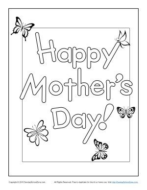 Happy Mother 39 S Day Coloring Page Happy Mothers Bible