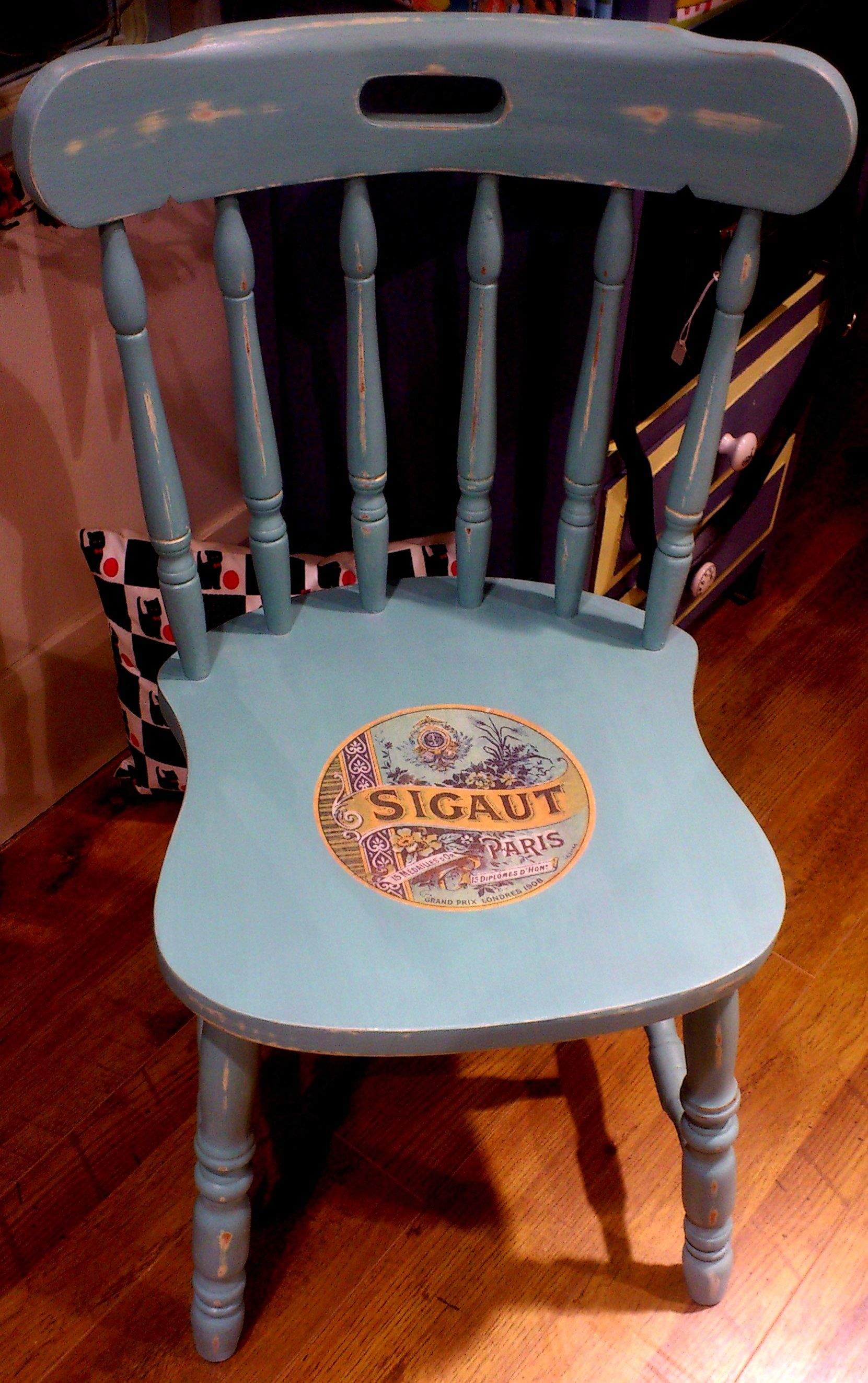 A gorgeous Kitchen Chair transformed using Chalk Paint™ by Annie ...