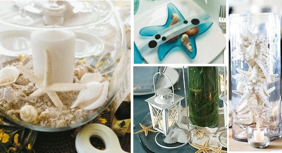Starfish Wedding Theme Ideas And Cake Topper Beach TablesBeach CenterpiecesSeaside