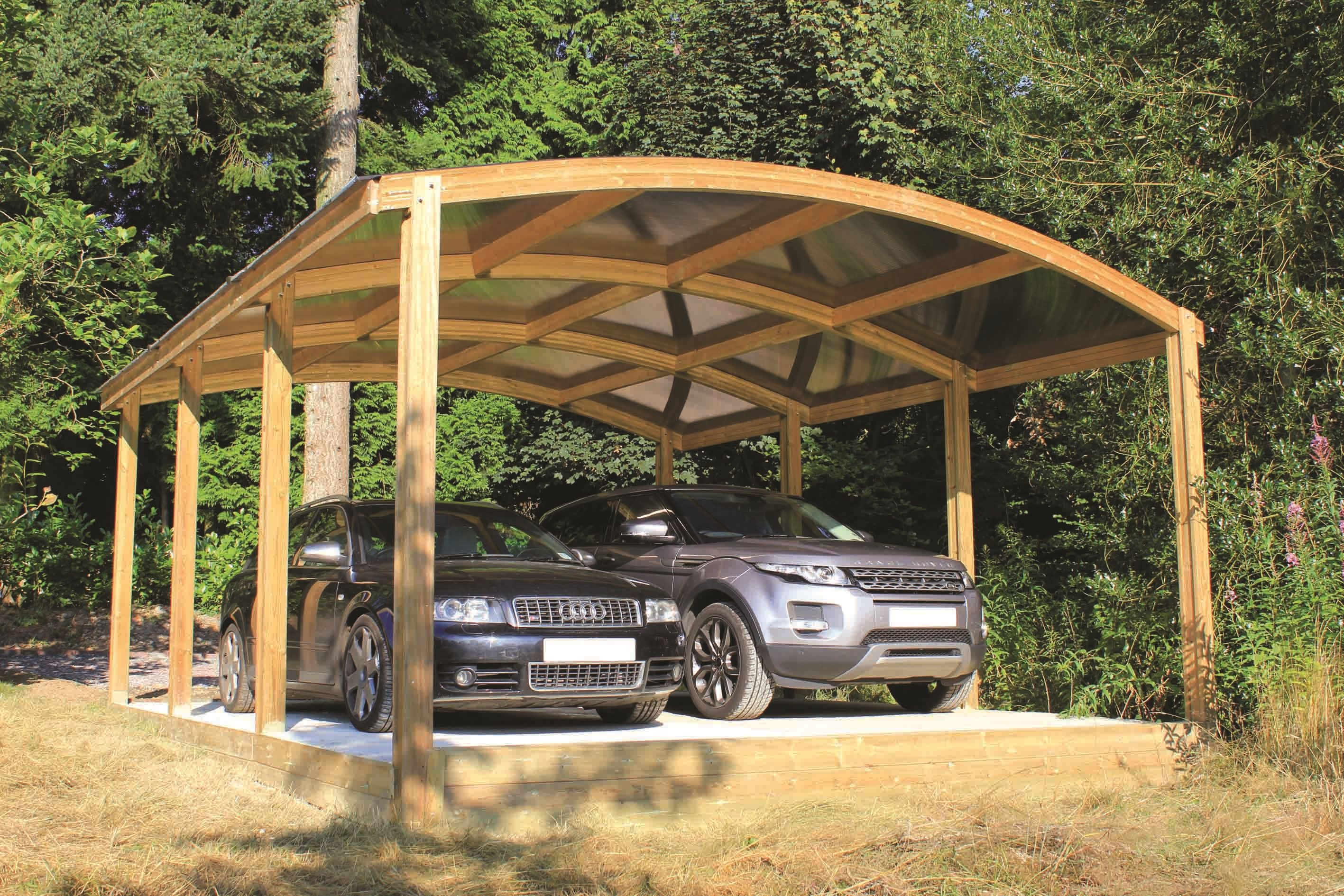 Curved Car Port Based on our standard car port, this eye