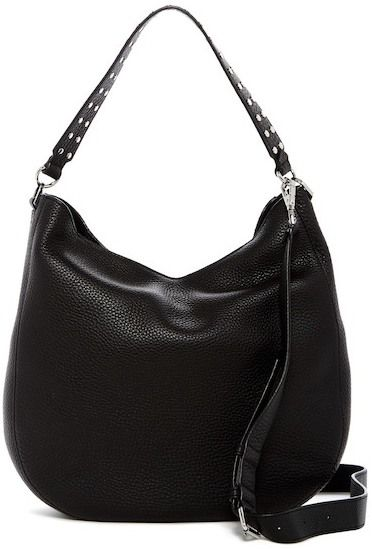 ce4cd9c6e1 Rebecca Minkoff Convertible Leather Hobo Bag with Biker Studs ...