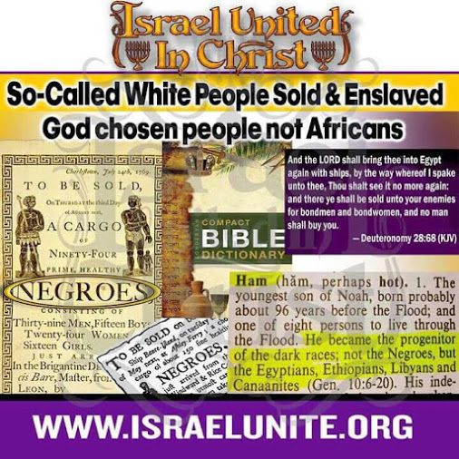 Blacks are the chosen people of god