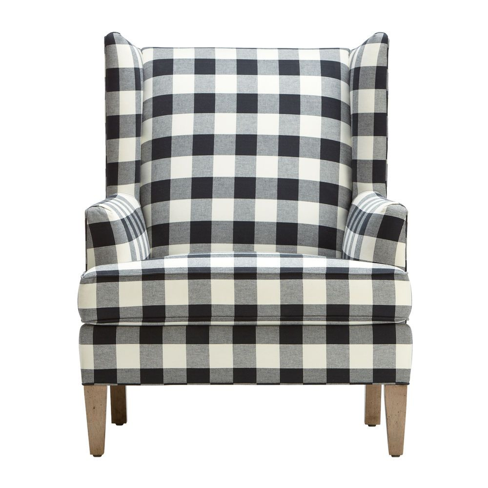 A Classic Wing Back Chair With A Generous Dose Of Gingham Check