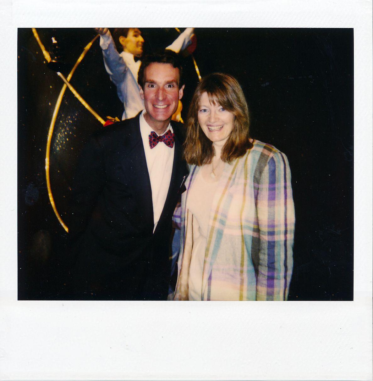 Polaroid of Bill Nye the Science Guy and Patty Mooney, Las