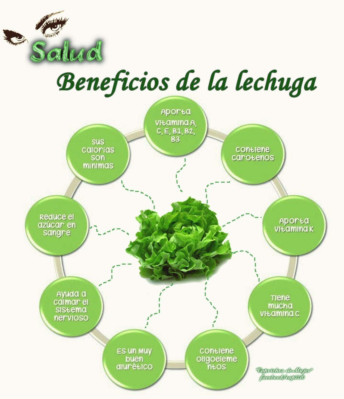 Beneficios De La Lechuga Beneficios De La Lechuga Frutas Y Verduras Beneficios Jugos