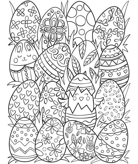 Easter Eggs Surprise Coloring Page Easter