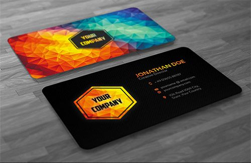 Graphic Design Business Card Polygon