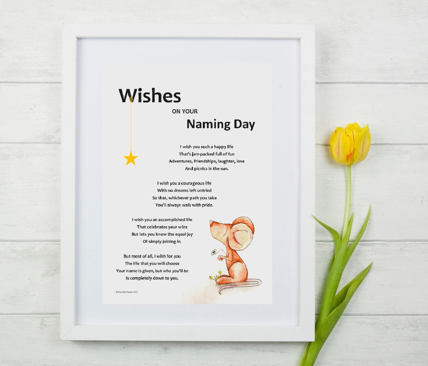 Wishes on your naming day illustrated poem for naming ceremony new wishes on your naming day illustrated poem for naming ceremony new baby gift kristyandbryce Images