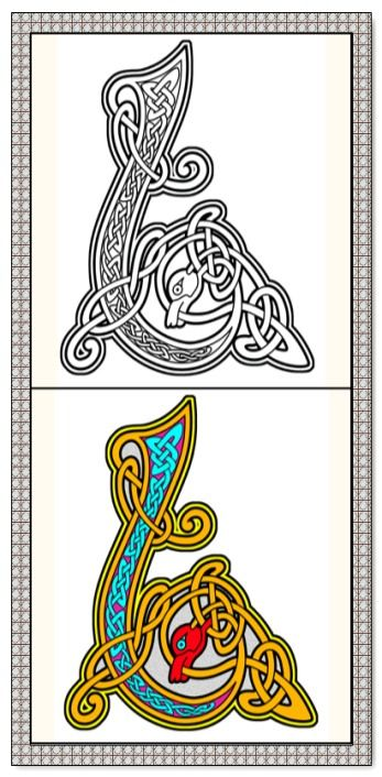 Celtic Coloring Book - 26 Printable Coloring Pages, Outlines, Color ...