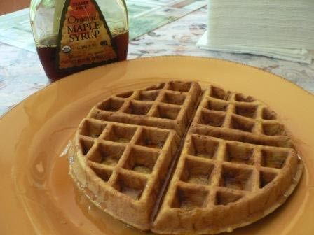 Low Fat Pumpkin Waffles