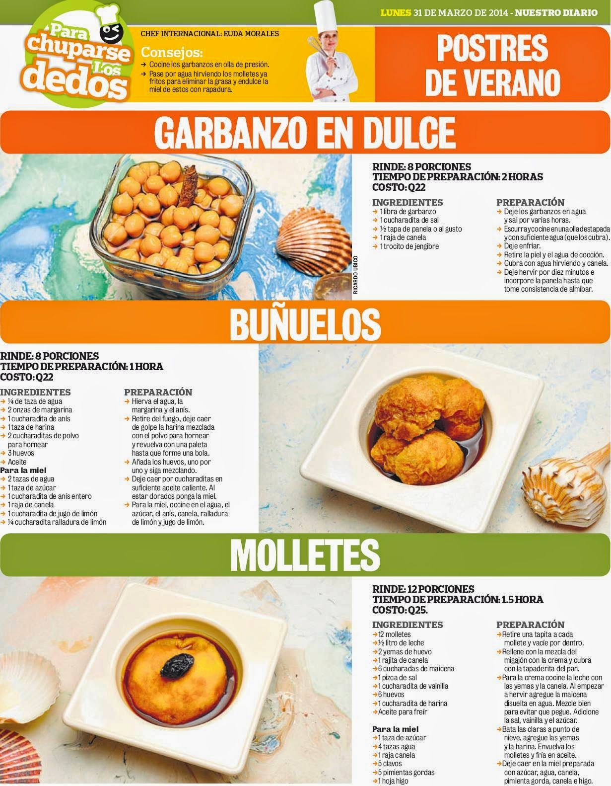 Cocinas y recetas postres para la semana santa comida for Comida semana santa