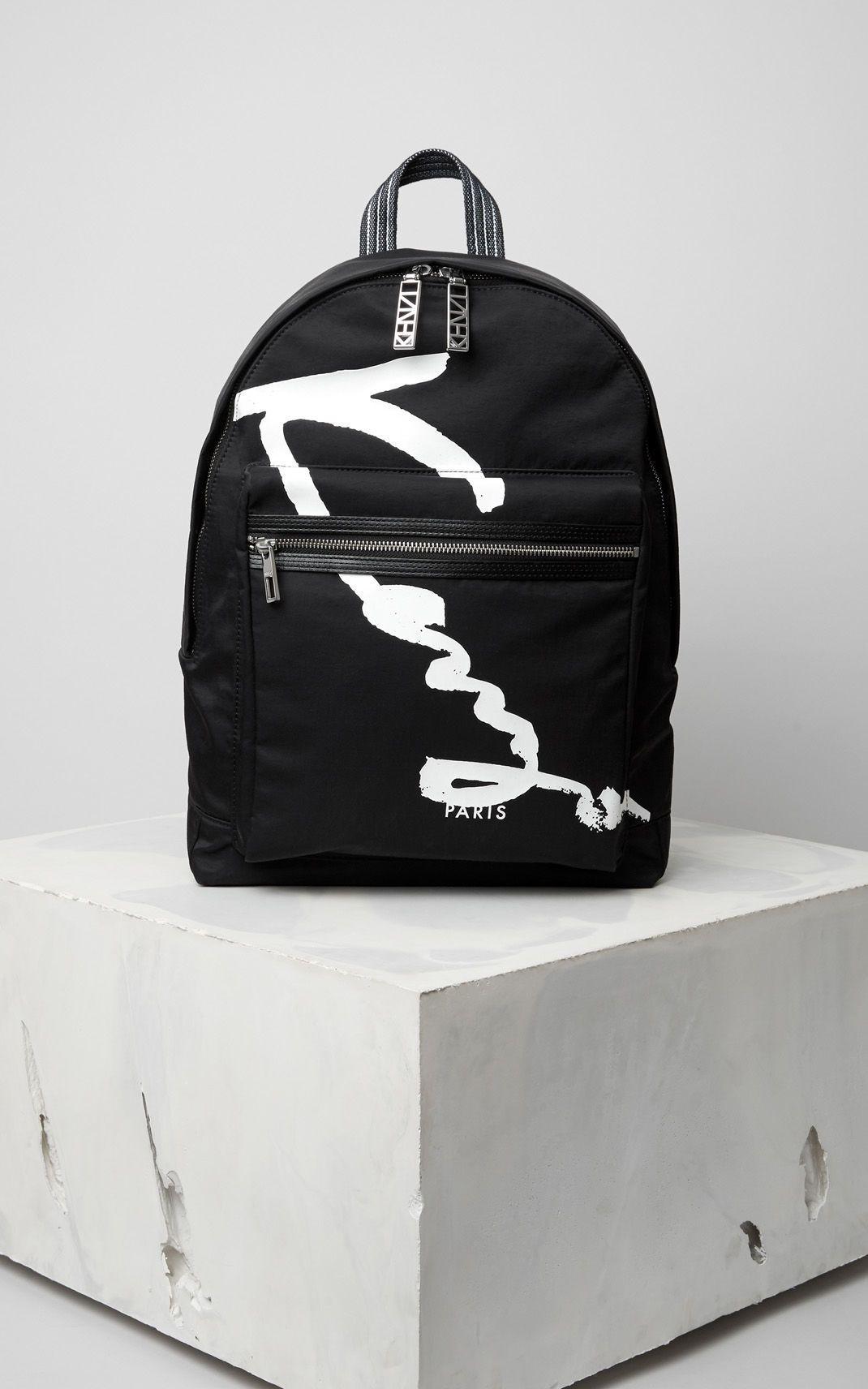 1c2086d608f KENZO Signature Backpack, BLACK, KENZO | Kenzo | Kenzo, Bags, Backpacks
